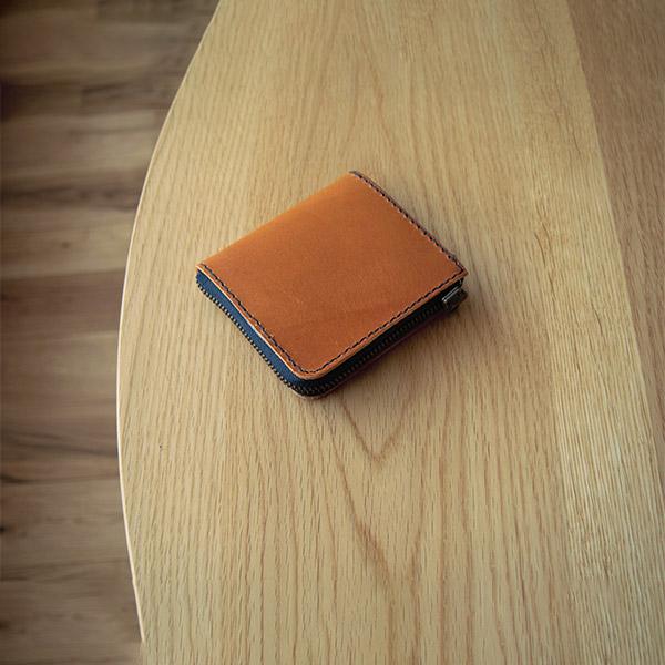 レザークラフト型紙_L字ファスナーのミニ財布