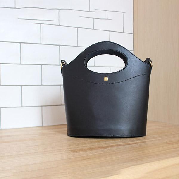 レザークラフト型紙_肩掛けもできるハンドバッグ