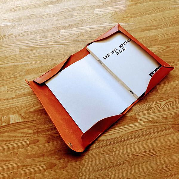 レザークラフト型紙_革のドキュメントケース